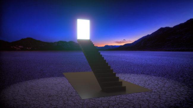 Exit simulation Burning man